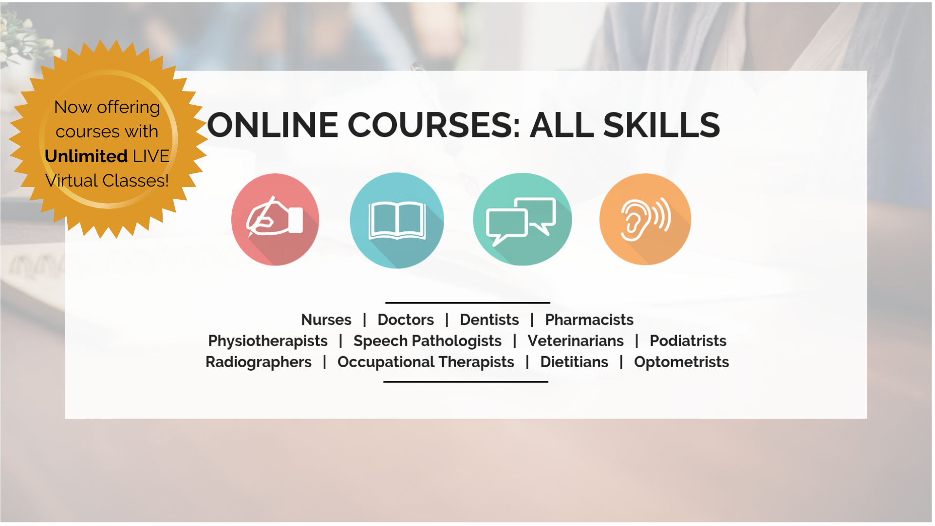 OET Online: Online Courses: All Skills